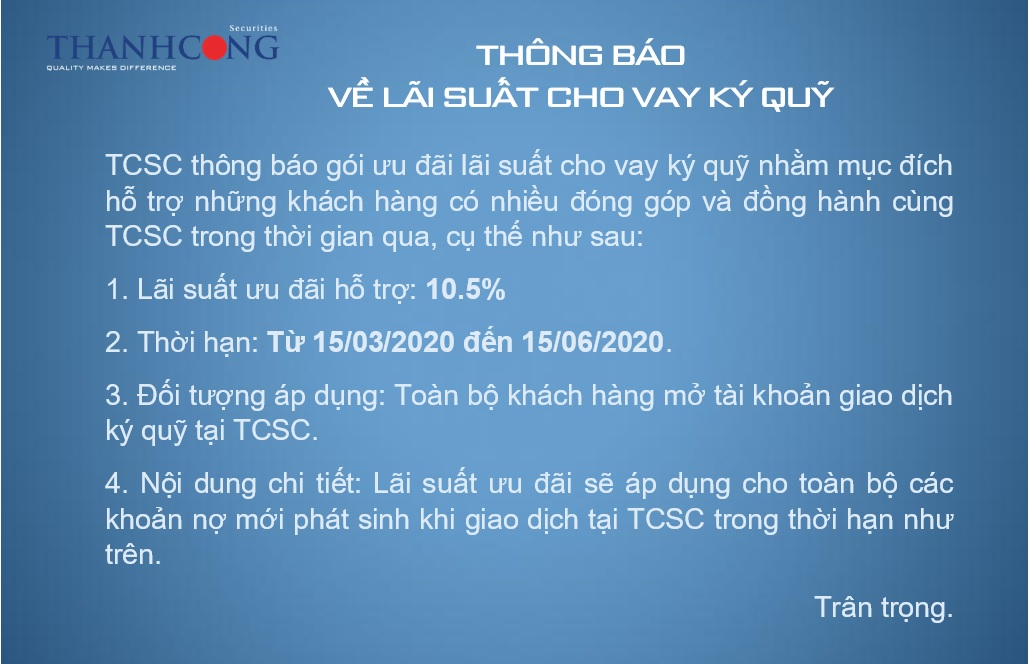 Thong bao Margin website